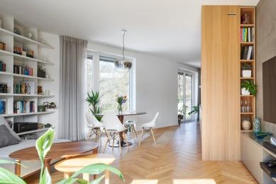 Rekonstrukce a návrh interiéru bytu ve Vršovicích - foto: Tomáš Mach