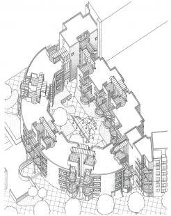 LiMa residential courtyard - Axonometrie