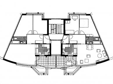 LiMa residential courtyard - Půdorys bytů
