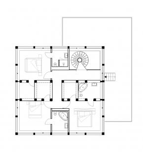 Vila u Postupimi - Půdorys patra - foto: Tchoban Voss Architekten