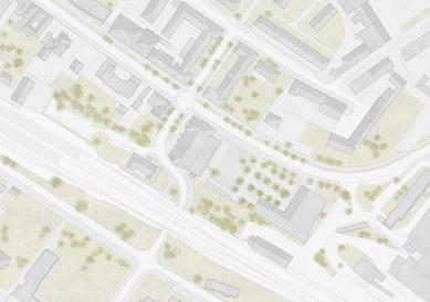 Revitalizace areálu sokolovny v Rokycanech - Situace - foto: Rusina Frei architekti