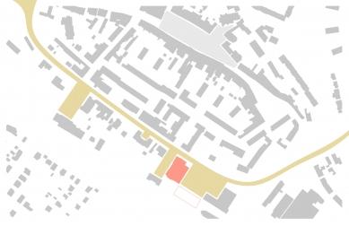 Revitalizace areálu sokolovny v Rokycanech - Schéma okružní třídy - foto: Rusina Frei architekti
