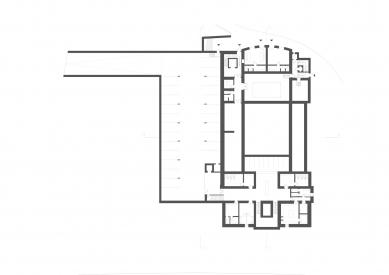 Revitalizace areálu sokolovny v Rokycanech - Půdorys 1.pp - foto: Rusina Frei architekti