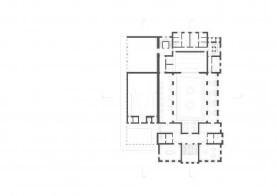 Revitalizace areálu sokolovny v Rokycanech - Půdorys 2.np - foto: Rusina Frei architekti