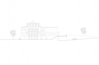 Revitalizace areálu sokolovny v Rokycanech - Pohled jih - foto: Rusina Frei architekti