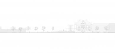 Revitalizace areálu sokolovny v Rokycanech - Pohled sever - foto: Rusina Frei architekti