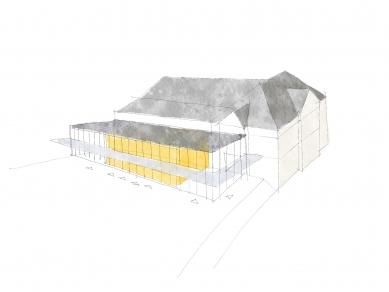 Revitalizace areálu sokolovny v Rokycanech - Skica - foto: Rusina Frei architekti