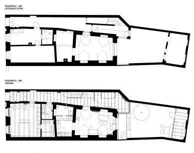Rekonstrukce rodinného domu v Třeboni - Půdorys 1NP