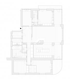 Byt pro architekta a sběratele umění - Půdorys bytu po rekonstrukci - foto: COLLARCH
