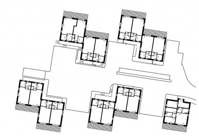 Bytové domy v Rožnově pod Radhoštěm - Půdorys - foto: Studio acht