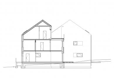 Bytové domy v Rožnově pod Radhoštěm - Řez - foto: Studio acht