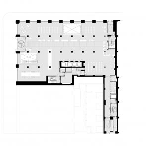 Knihovna Nadace Stavrose Niarchose - Půdorys 1NP