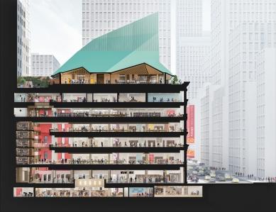 Knihovna Nadace Stavrose Niarchose - 3D řez
