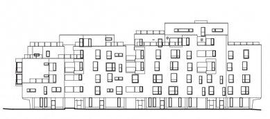 Bytový dům ul. Na Okraji - Jižní pohled - foto: Atelier ANTA