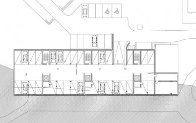 Bytový dům ul. Na Okraji - suterén - foto: Atelier ANTA