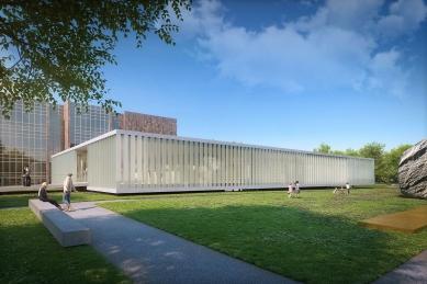 Jihočeská vědecká knihovna - Vizualizace soutěžního návrhu - foto: Kuba Pilař architekti