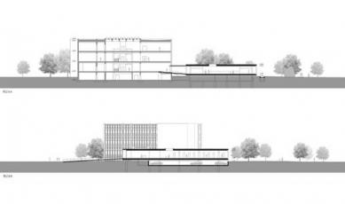 Jihočeská vědecká knihovna - Řezy - foto: Kuba Pilař architekti