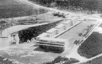 Bývalá škola odborových svazů - Letecký snímek 1930