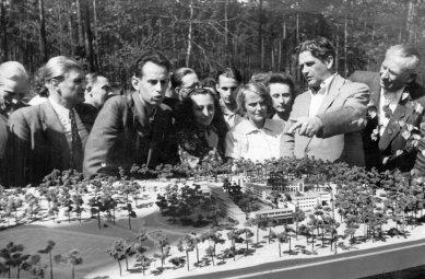 Bývalá škola odborových svazů - Snímek modelu 1950