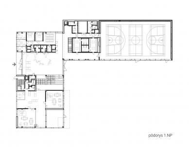 Súkromná základná škola Guliver - Půdorys 1.np - foto: + uniformarchitects