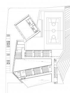 Střední škola v Galisteo - Půdorys suterénu - foto: MGM arquitectos