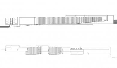 Střední škola v Galisteo - Pohled a řez - foto: MGM arquitectos