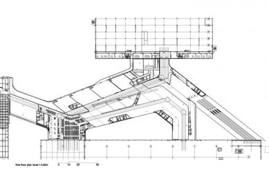 BMW Plant, Central Building - Půdorys 1.NP - foto: © Zaha Hadid Architects, London