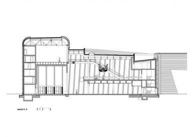 BMW Plant, Central Building - Příčný řez - foto: © Zaha Hadid Architects, London