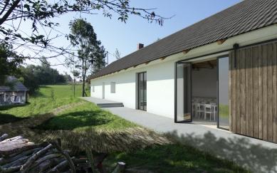 Komunitní centrum Opatovice - Vizualizace vstupu - foto: Rusina Frei architekti