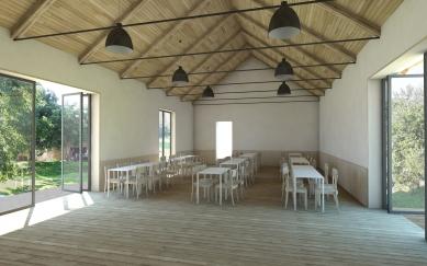 Komunitní centrum Opatovice - Vizualizace sálu - foto: Rusina Frei architekti