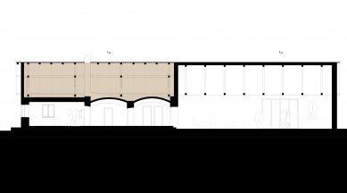 Komunitní centrum Opatovice - Řez A - foto: Rusina Frei architekti