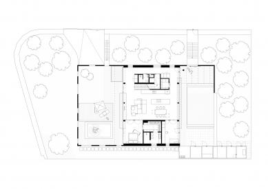 Dom pre rodinu sdomácimi zvieratkami - Půdorys přízemí - foto: Sadovsky & Architects
