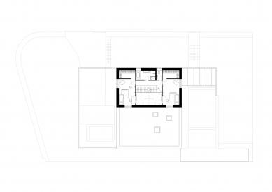 Dom pre rodinu sdomácimi zvieratkami - Půdorys patra - foto: Sadovsky & Architects