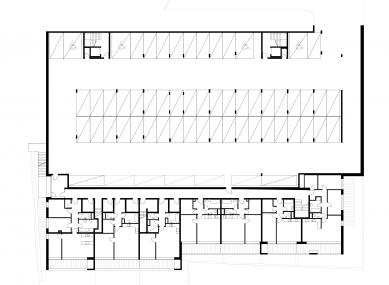 Čtyři domy v jednom - Půdorys 3PP
