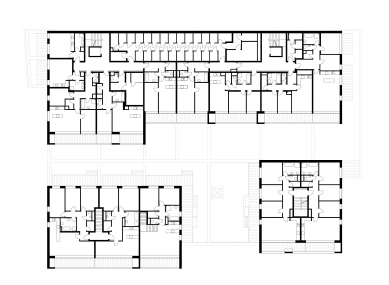 Čtyři domy v jednom - Půdorys 2PP