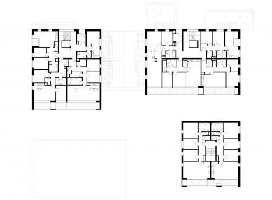 Čtyři domy v jednom - Půdorys 1PP