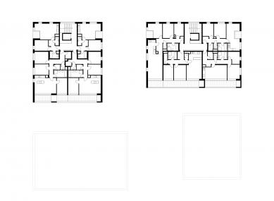Čtyři domy v jednom - Půdorys 2NP