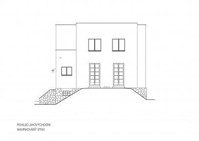 Obnova Müllerovy vily vOlomouci - Jihovýchodní pohled - foto: Sborwitz Architekti