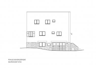 Obnova Müllerovy vily vOlomouci - Severozápadní pohled - foto: Sborwitz Architekti