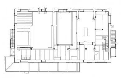 Rekonstrukce bývalé kotelny na administrativní budovu - Přízemí - původní stav - foto: Atelier ANTA