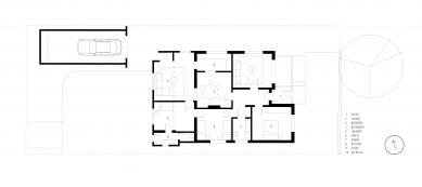 Offset House - Půdorysy původního stavu