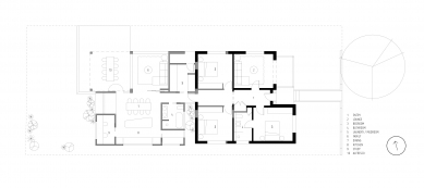 Offset House - Půdorysy současného stavu