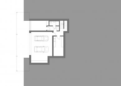 Rodinný dům v Jevanech - Půdorys 1.pp - foto: ABM architekti