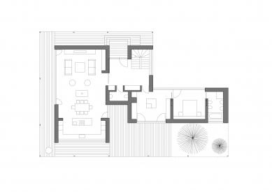 Rodinný dům v Jevanech - Půdorys 1.np - foto: ABM architekti