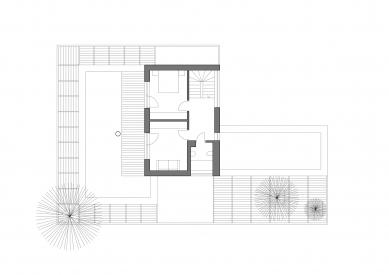 Rodinný dům v Jevanech - Půdorys 2.np - foto: ABM architekti