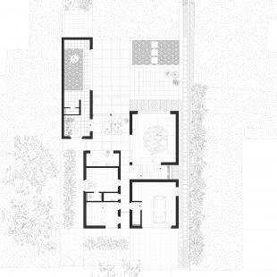 Rodinný dům Lhotka - Půdorys 1NP