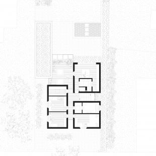 Rodinný dům Lhotka - Půdorys 2NP