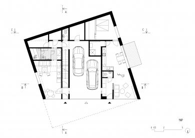 Lazy House - Půdorys 1NP