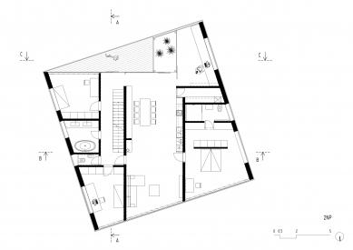 Lazy House - Půdorys 2NP