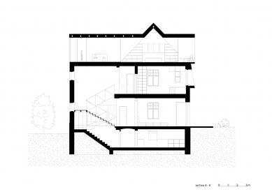 Vila Trojúhelník - Řez A - foto: studio AEIOU